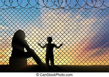 małe dziecko, refugees, macierz