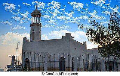 mały, biały, meczet, jeddah