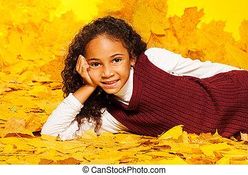 mały, czarna dziewczyna, ballady, na, przedimek określony przed rzeczownikami, autumn klon odchodzi