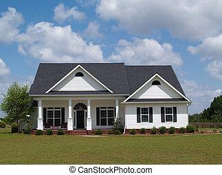 mały, dom, mieszkaniowy