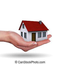 mały, dom, na, przedimek określony przed rzeczownikami, siła robocza, i, przedimek określony przed rzeczownikami, dziewczyny