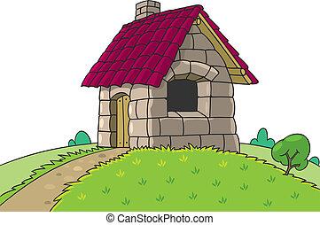 mały, dom, trzy, opowiadanie, świnie, wróżka