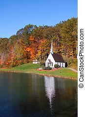 mały, historyczny, kościół