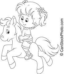 mały, jeździec