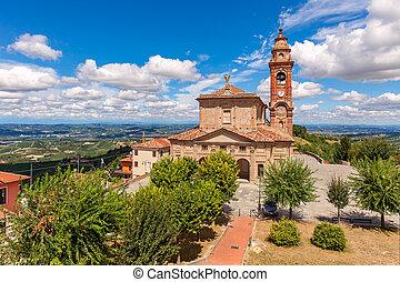 mały, katolik, włoski kościół, town.