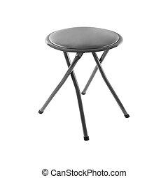 mały, krzesło, biały, odizolowany