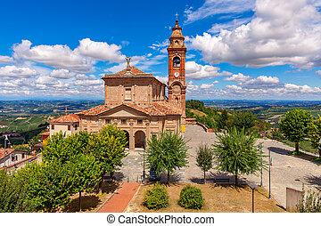 mały, parafia, włoski kościół, town.