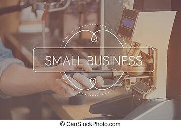 mały, pojęcie, handlowy