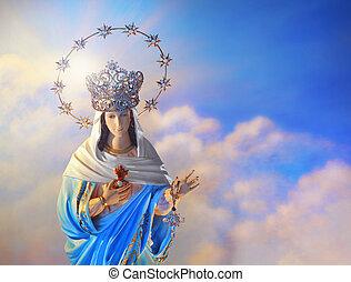 maagd, gezegend, maria