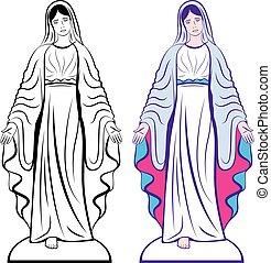 maagd, heilig, godmother