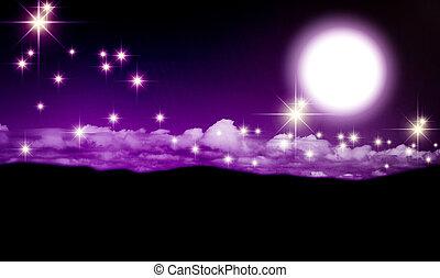 maan, nacht