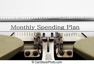 maandelijks, uitgeven, plan