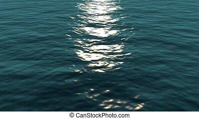 maanlicht, op, water