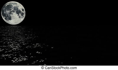 maanlicht, steegjes, boven, de, zee