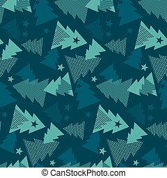 Maars green color Christmas textile and wrapping paper vector motif. Happy new year and xmas tree seamless pattern illustration.