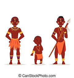 Maasai african people in traditional clothing happy person...