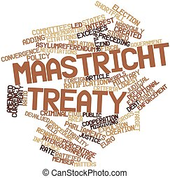 Maastricht Treaty - Abstract word cloud for Maastricht...