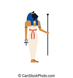Maat, the Goddess of justice of ancient Egypt vector Illustration