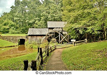 Mabry Mill 7 - Mabry Mill, a restored gristmill on the Blue...