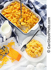 Mac and Cheese on a plate