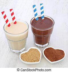 Maca Root and Chocoalte Whey Drinks