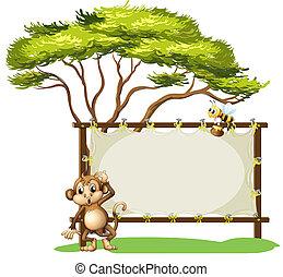 macaco, abelha