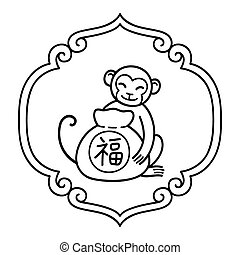 macaco, ano novo chinês