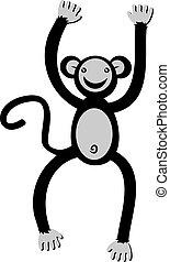 macaco, dança