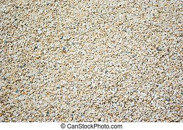 macadam - A close up of rocky gravel stones.