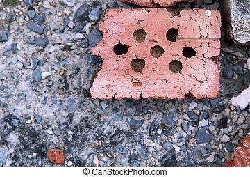 macadam brick close up texture with stones