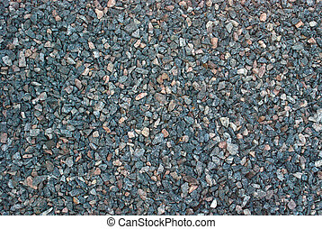 macadam - crushed gravel for construction