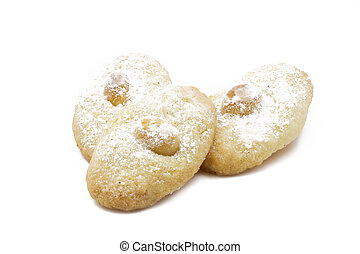 Macadamia cookies, shot taken with large depth of field (DOF)