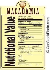 macadamia, nootjes, voedings, waarde