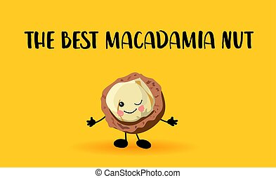 Macadamia nut character. Lovely wholesome food. Proteins and...