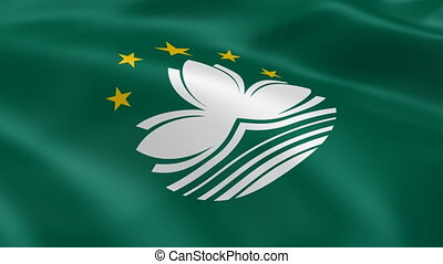 Macanese flag in the wind