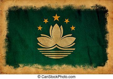 macao, bandera, grunge