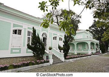 macao, casas, museo, marca famosa, taipa