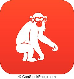 Macaque icon digital red