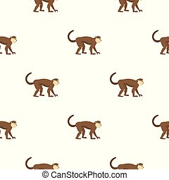 Macaque monkey pattern seamless