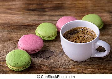 macaron, bohnenkaffee