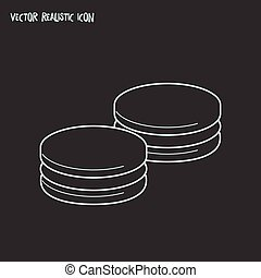 Macaron icon line element. Vector illustration of macaron icon line isolated on clean background for your web mobile app logo design.