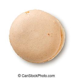 Macaron on a white