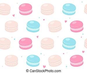 macaron, padrão, biscoito
