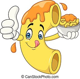Macaroni and Cheese Cartoon Character