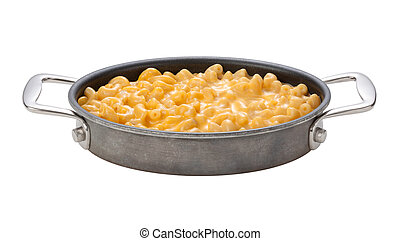 Macaroni and Cheese in a oval pan