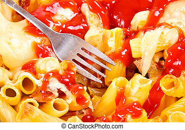 Macaroni and ketchup
