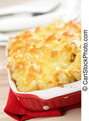 Macaroni cheese - Macaroni and cheese in the casserole...