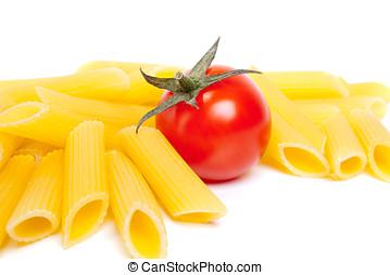 macaroni, en, tomaat
