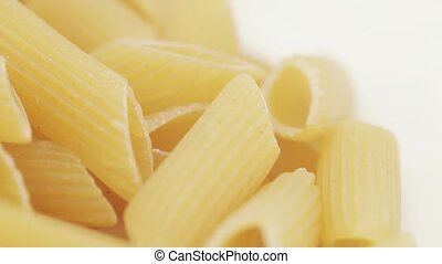Macaroni from a meal of a rough grinding