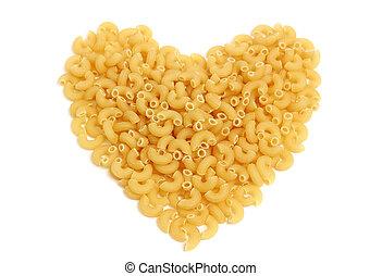 Macaroni isolated on white background